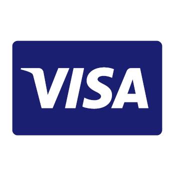 Visa logo blue